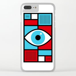 See All Abstract Design Clear iPhone Case