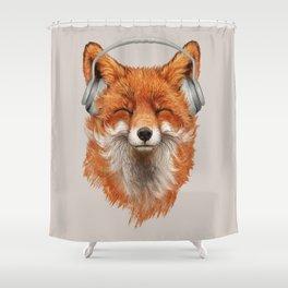 The Musical Fox Shower Curtain