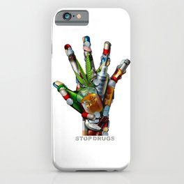 Stop Drugs iPhone Case