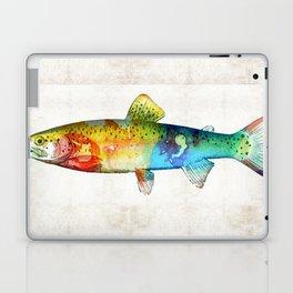 Rainbow Trout Art by Sharon Cummings Laptop & iPad Skin