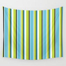 Fun Stripes blue green Wall Tapestry