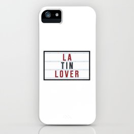 Latin Lover iPhone Case