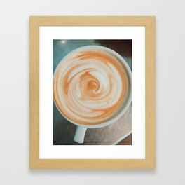 Casual Latte Framed Art Print