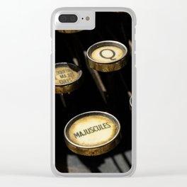 Majuscules Clear iPhone Case