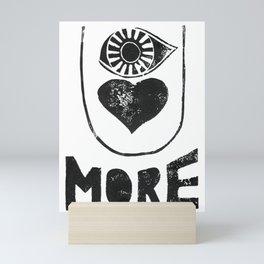 EYE LOVE U MORE Mini Art Print