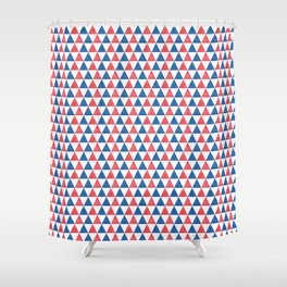 Triangles // July 4th Collection Shower Curtain