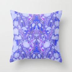 Violet Marbling Throw Pillow