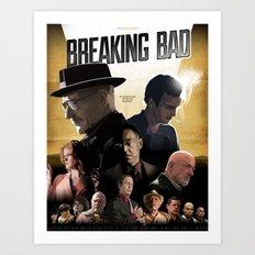 Breaking Bad - complete poster Art Print