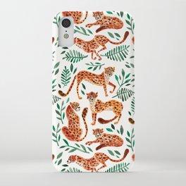 Cheetah Collection – Orange & Green Palette iPhone Case