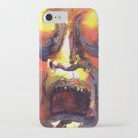 fear iPhone & iPod Cases featuring Fear  by Stevyn Llewellyn