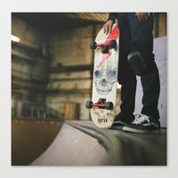 skate Canvas Prints featuring Skate by Sarah Rose