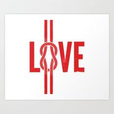Love Knot (Red) Art Print