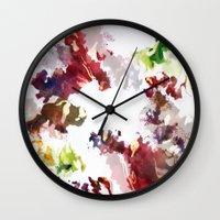 splatter Wall Clocks featuring Splatter by Leechi