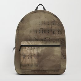 Sheet Music - Mixed Media Partiture #4 Backpack