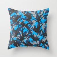 metal gear Throw Pillows featuring Metal Gear Rising Revengeance (V1) by ASHPLUS