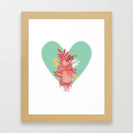 Feelings (Light Green) Framed Art Print