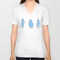 ass V-neck T-shirts featuring Ass by Skylar Hogan