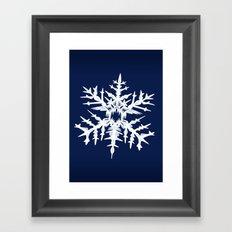 Evil Snow Framed Art Print