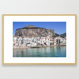 La Roca di Cefalu Framed Art Print