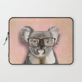 Funny koala with glasses Laptop Sleeve