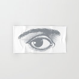 I see you. Gray on White Hand & Bath Towel