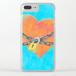Chained Heart Clear iPhone Case