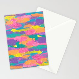 Lisa Frank Rainbow Abstract Painting with Glitter Stationery Cards
