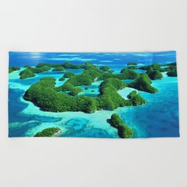 Palau Island Paradise Beach Towel