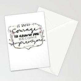 It Takes Courage Quote Stationery Cards