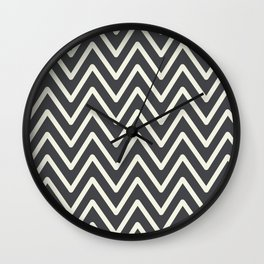 Chevron Wave Asphalt Wall Clock