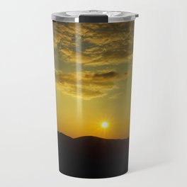 Sunset over Mt. Battie Travel Mug