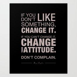 Angelou Attitude Art Print