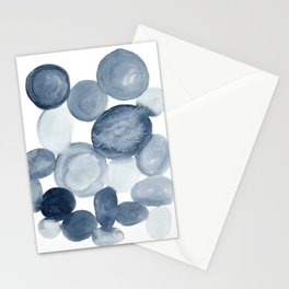 Pebbles Watercolor Abstract Stationery Cards