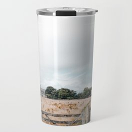 Wheat field in Scotland Travel Mug