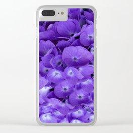 Amethyst  Hydrangea Flowers Garden Art Clear iPhone Case