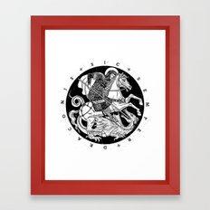 SIC SEMPER DRACONIS - B&W Framed Art Print