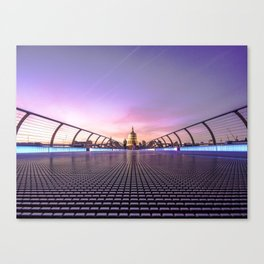 Millennium Bridge, London Canvas Print