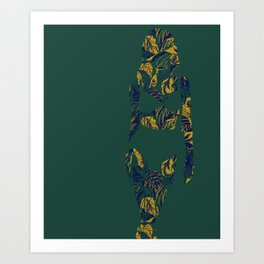 Back to Nature (green and blue) Art Print