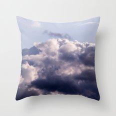Purple skies Throw Pillow