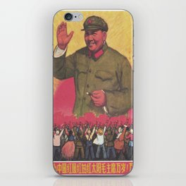 Vintage poster - Mao Zedong iPhone Skin