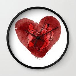Colgada de Corazon Wall Clock