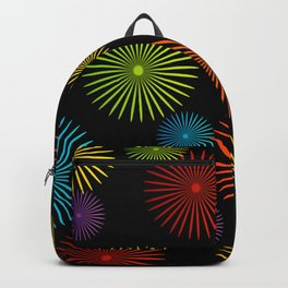 Colorful Christmas snowflakes pattern- holiday season gifts- Happy new year gifts Backpack