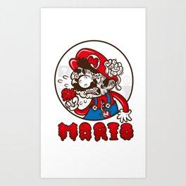 creepy mario Art Print