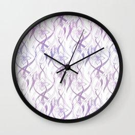 Floral Pattern - Purple Wall Clock