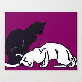 """Théophile Steinlen  """"Frise de chats"""" (edited)(4) Canvas Print"""