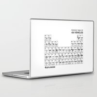 periodic table Laptop & iPad Skins featuring Periodic Table of 4x4 Vehicles by 4Explorers