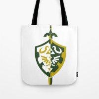 zelda Tote Bags featuring Zelda by Brandon Riesgo