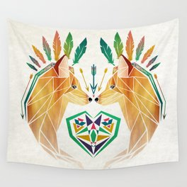 foxes in love Wall Tapestry