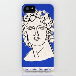 Alexander the Great statue iPhone Case
