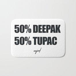 50% Deepak - %50 Tupac (Black Letters) Bath Mat